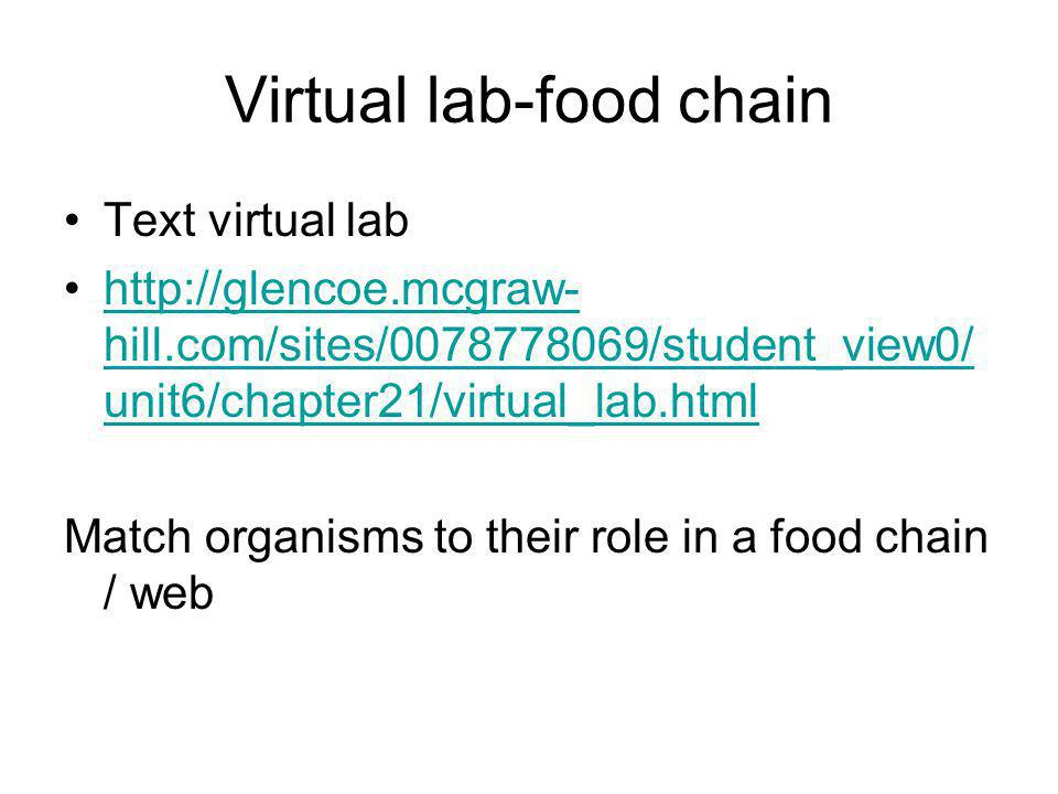 Virtual lab-food chain