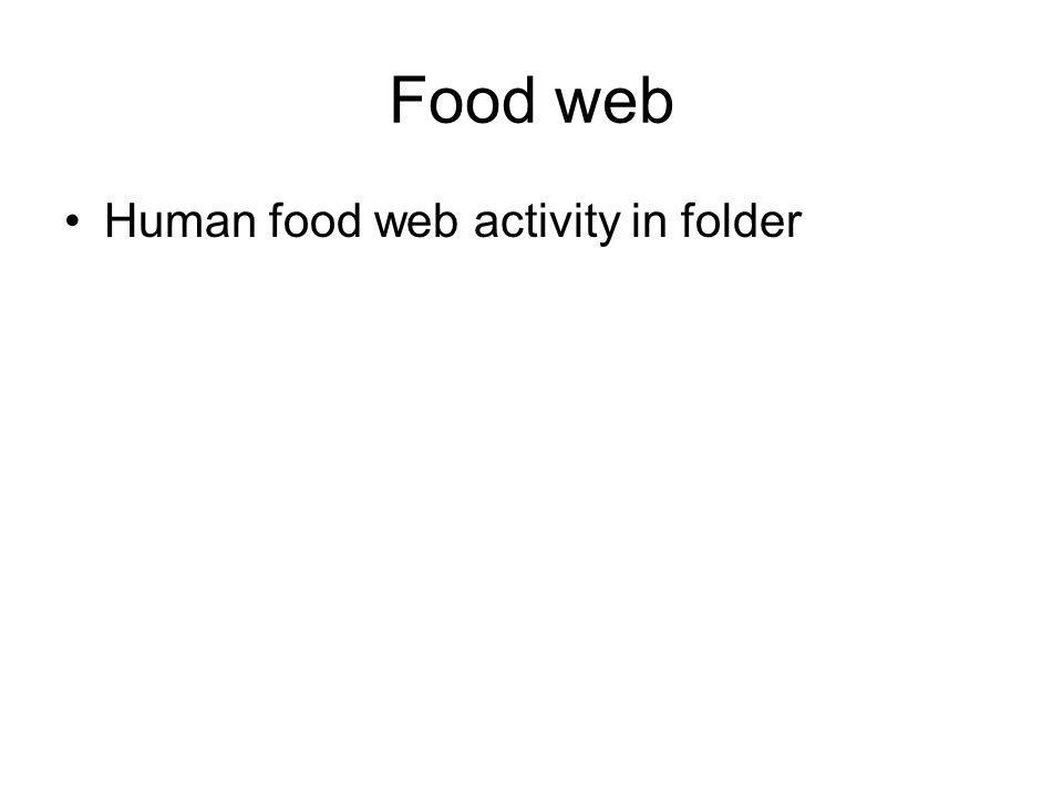 Food web Human food web activity in folder