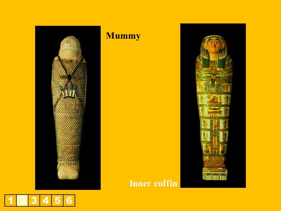 Mummy Inner coffin 1 2 3 4 5 6