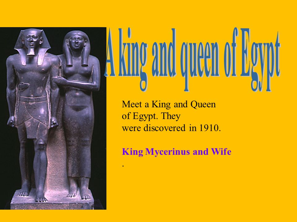 A king and queen of Egypt