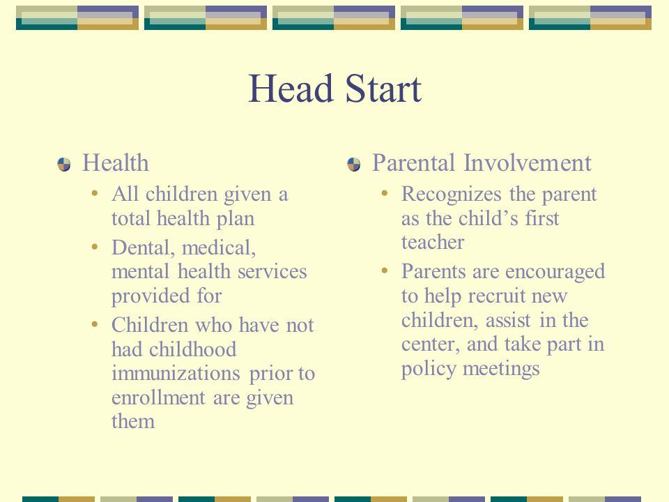 Head Start Health Parental Involvement