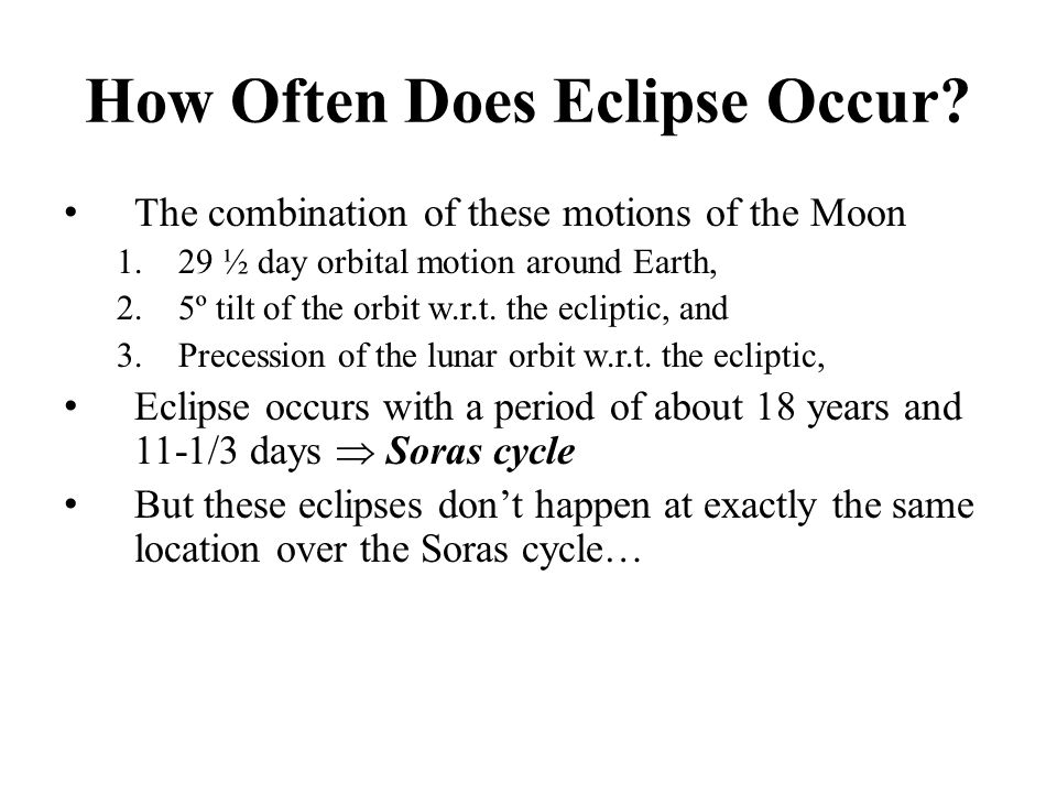 How Often Does Eclipse Occur