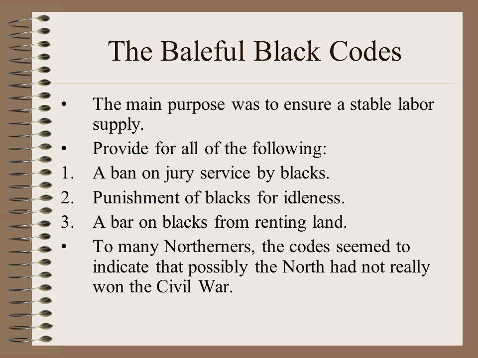 The Baleful Black Codes