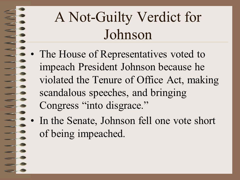 A Not-Guilty Verdict for Johnson