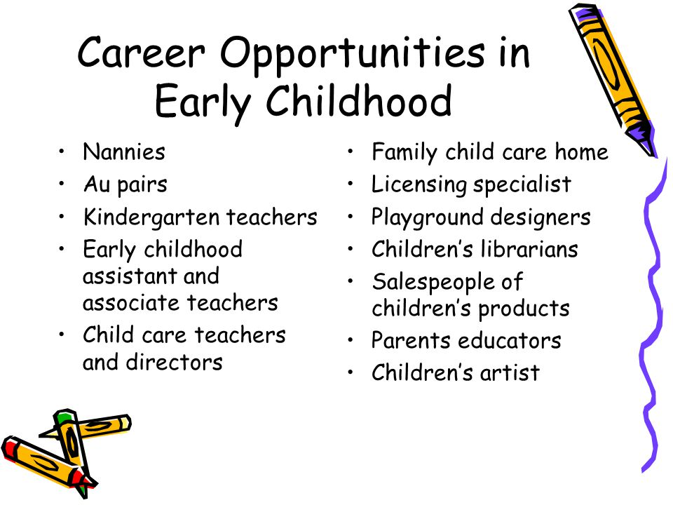 Career Opportunities in Early Childhood