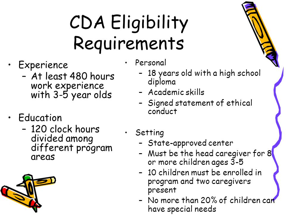 CDA Eligibility Requirements