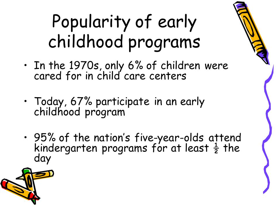Popularity of early childhood programs