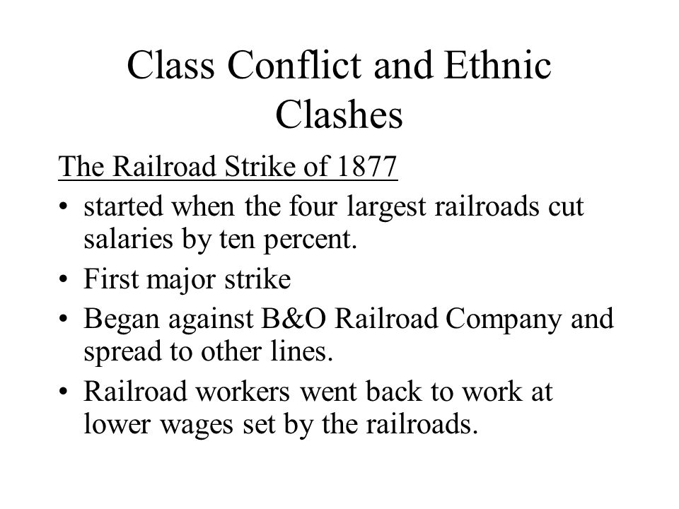 Class Conflict and Ethnic Clashes
