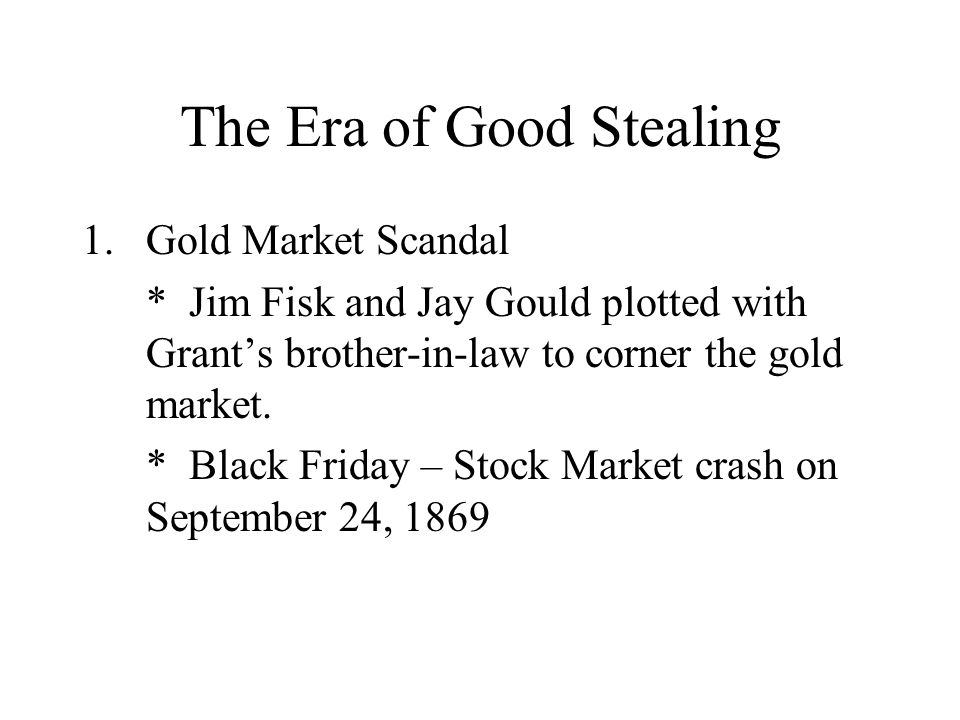 The Era of Good Stealing