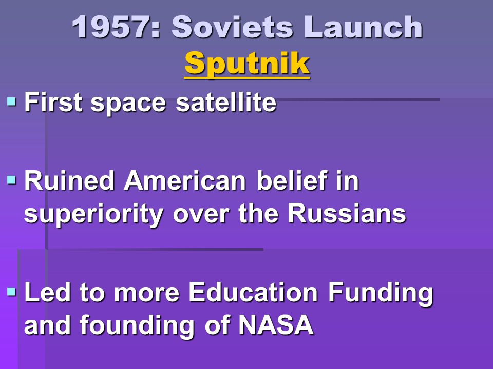 1957: Soviets Launch Sputnik