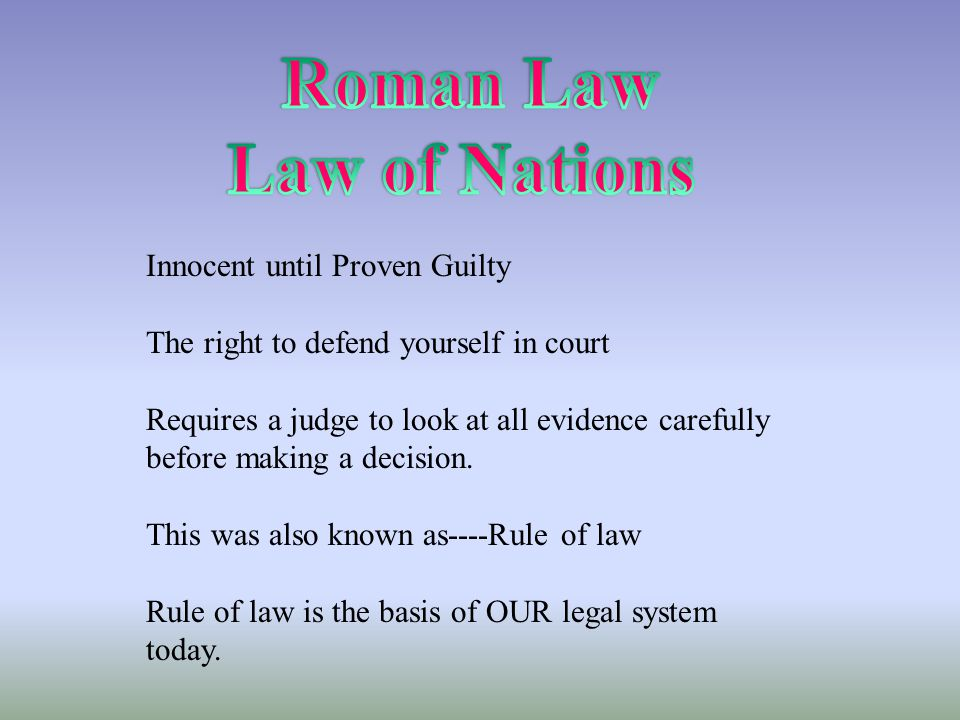 Roman Law Law of Nations