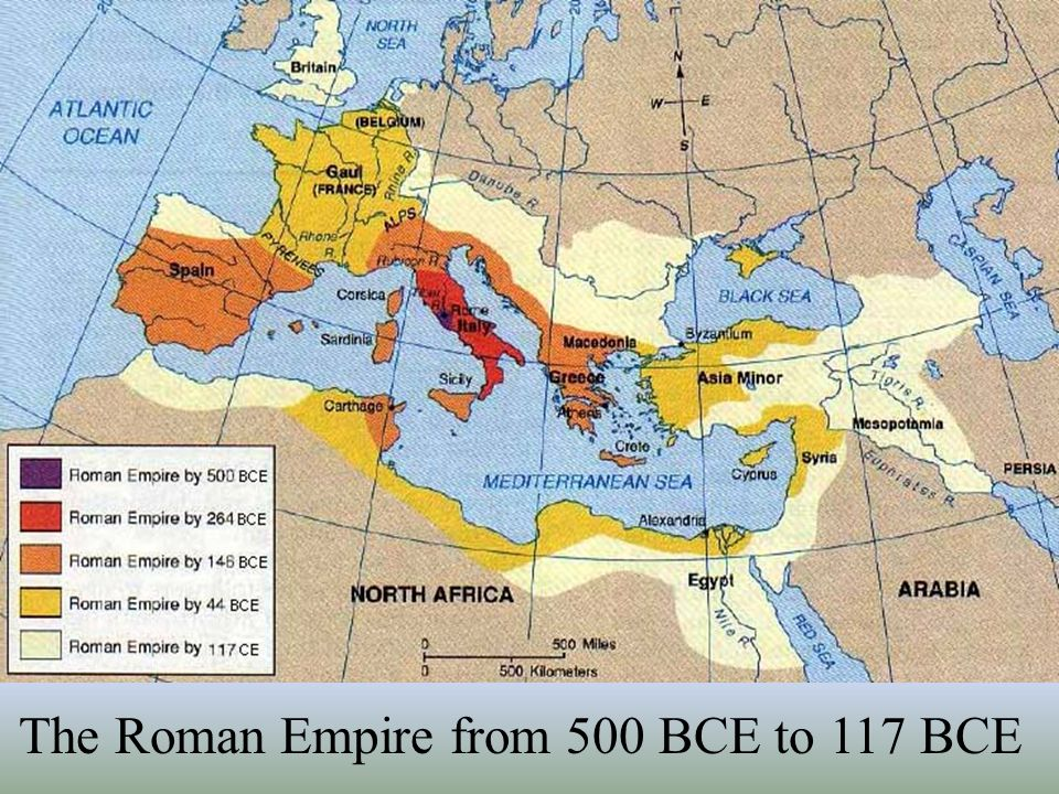 The Roman Empire from 500 BCE to 117 BCE