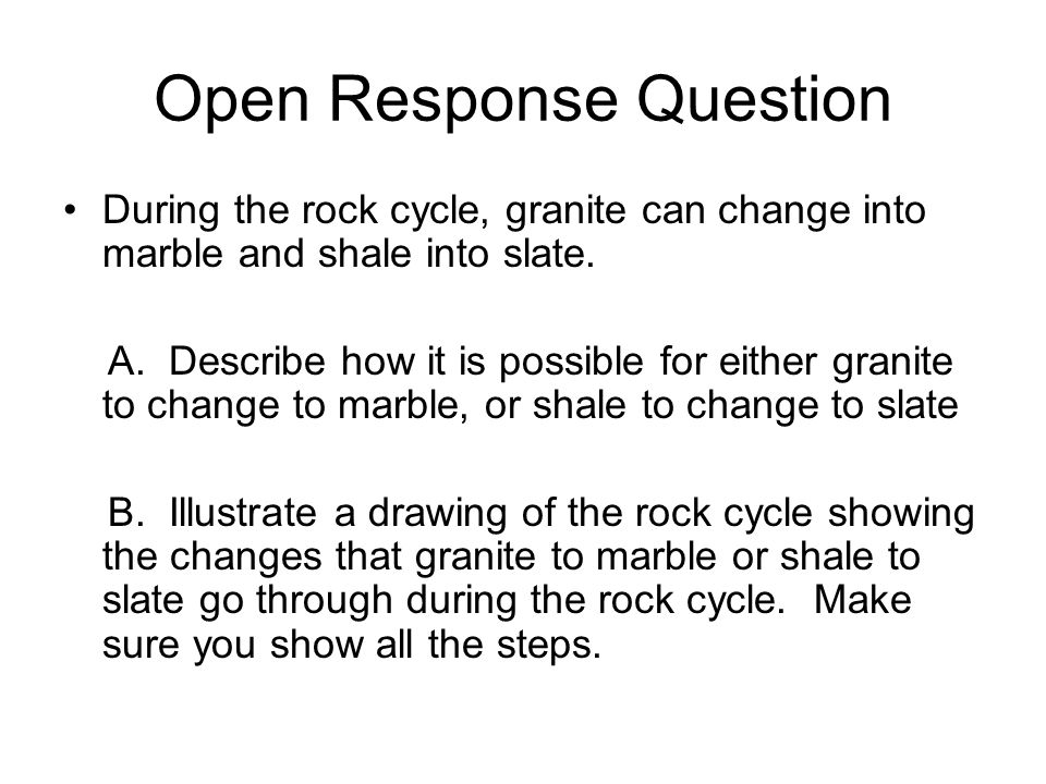 Open Response Question