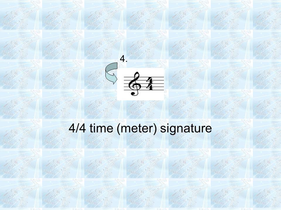 4/4 time (meter) signature