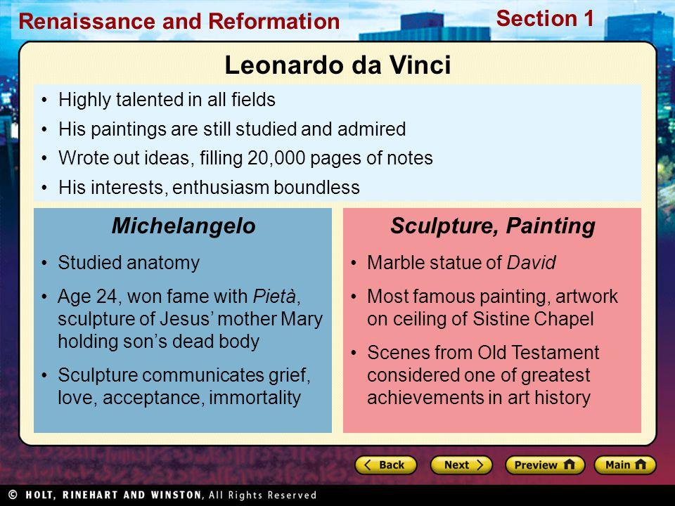 Leonardo da Vinci Michelangelo Sculpture, Painting