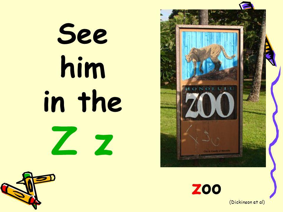 See him in the Z z zoo (Dickinson et al)