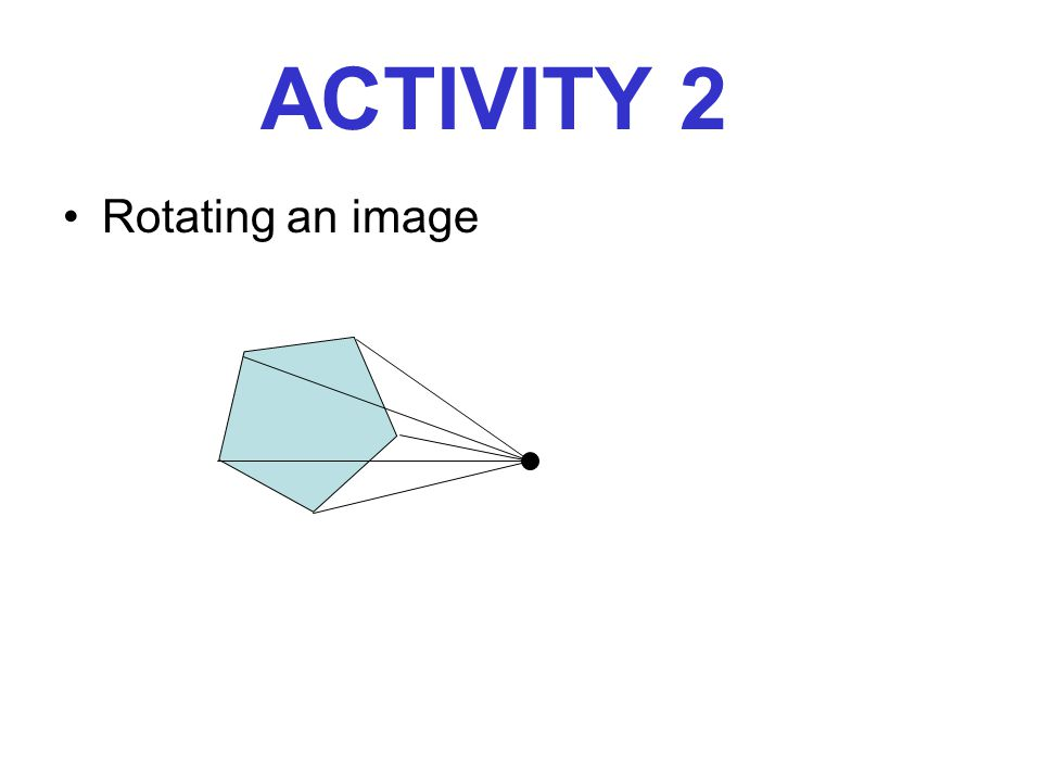 ACTIVITY 2 Rotating an image