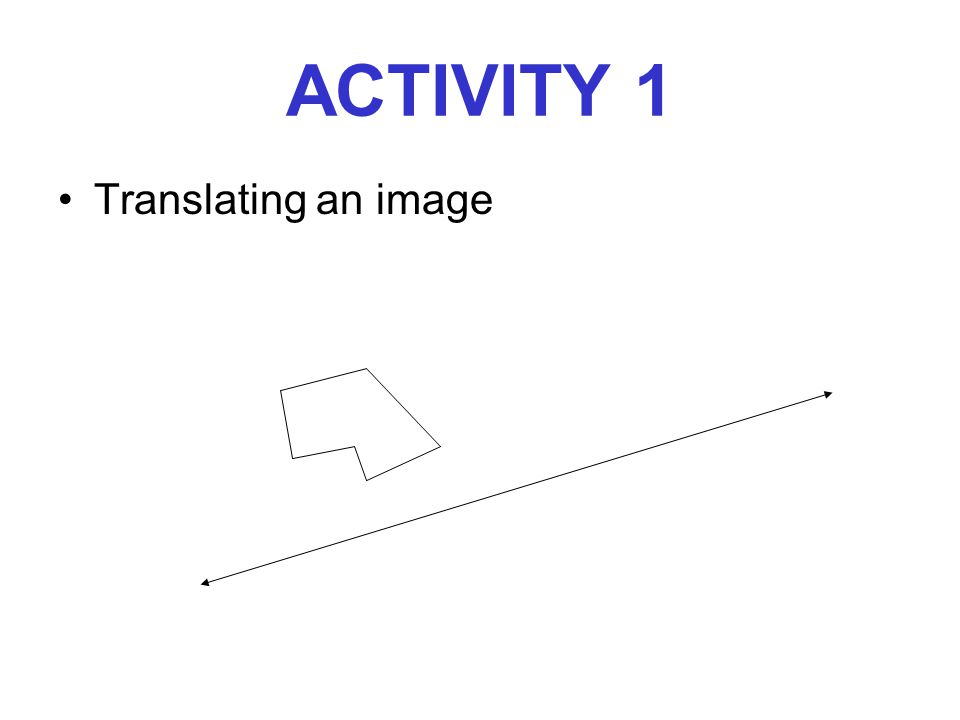 ACTIVITY 1 Translating an image
