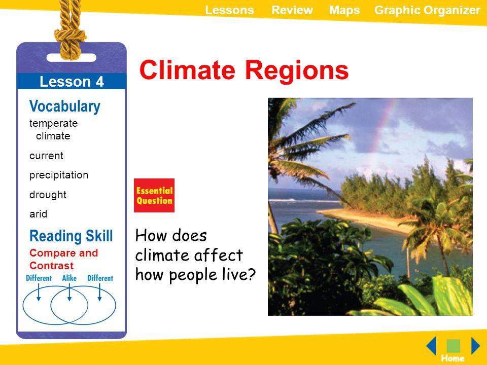 Climate Regions Vocabulary Reading Skill