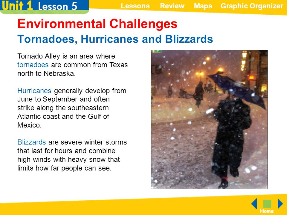 Tornadoes, Hurricanes and Blizzards