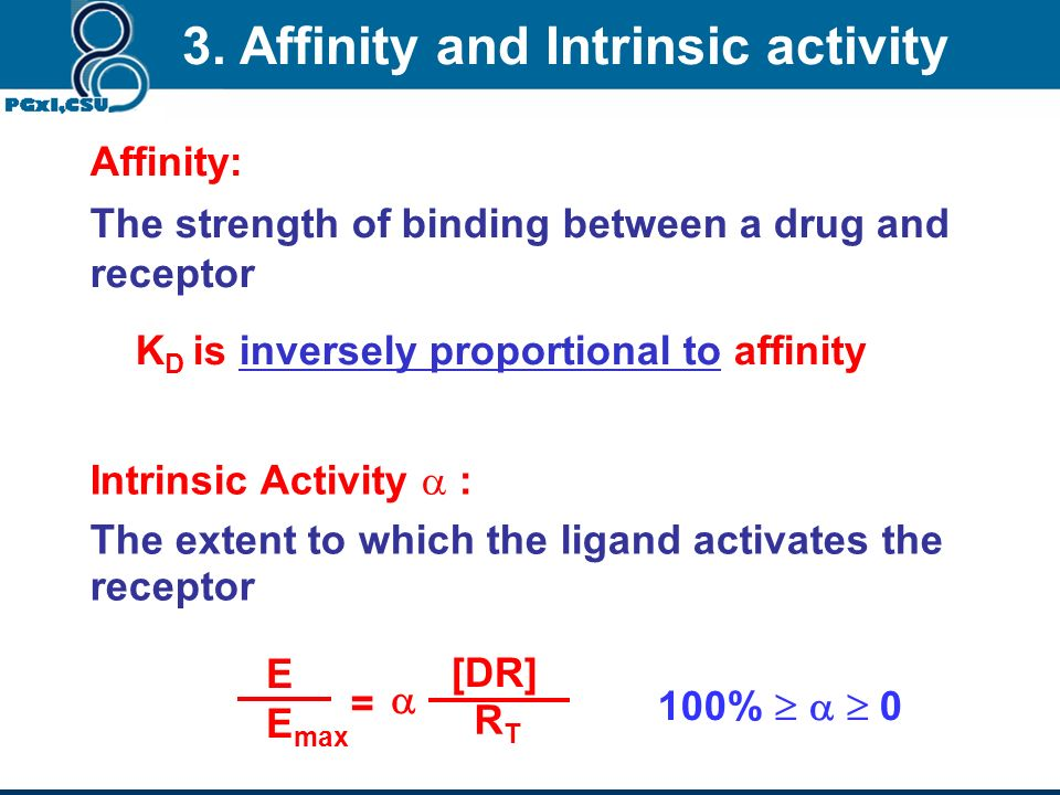 3. Affinity and Intrinsic activity