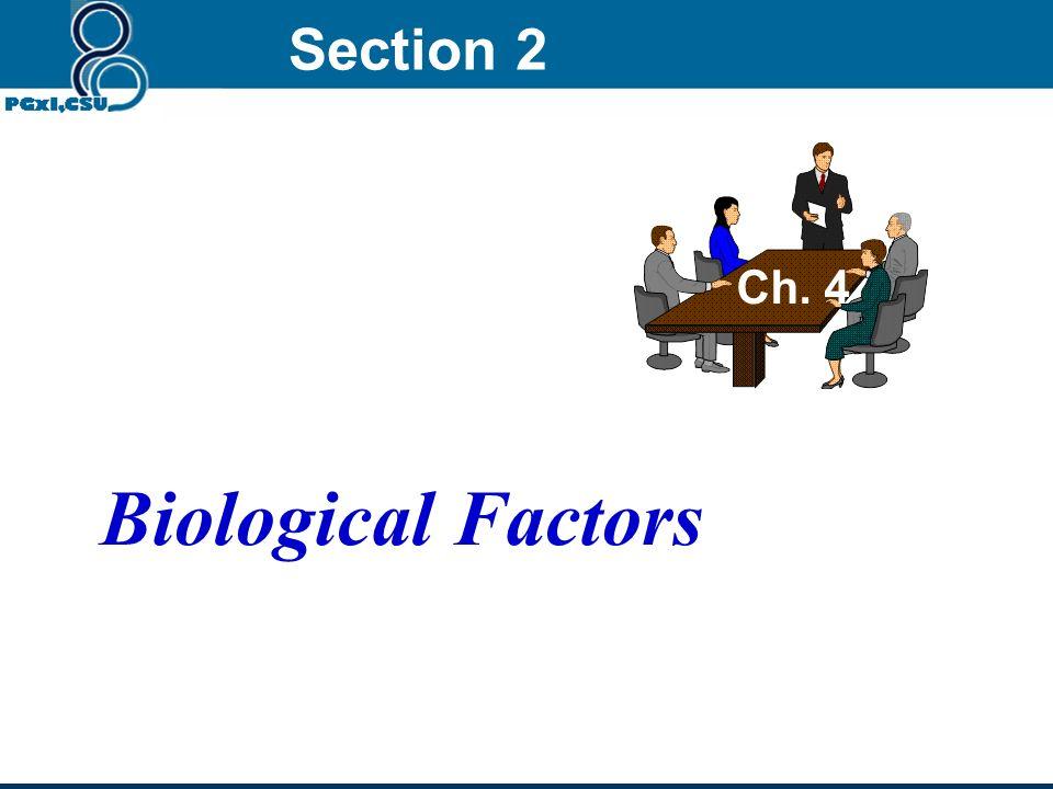 Section 2 Ch. 4 Biological Factors