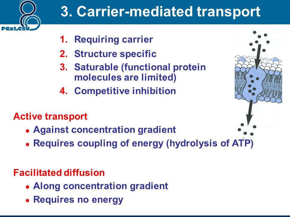 3. Carrier-mediated transport