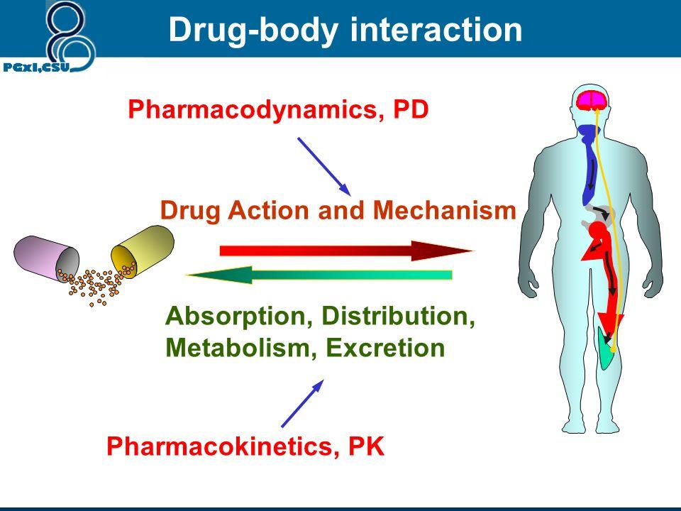 Drug-body interaction