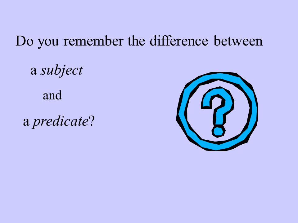 Do you remember the difference between