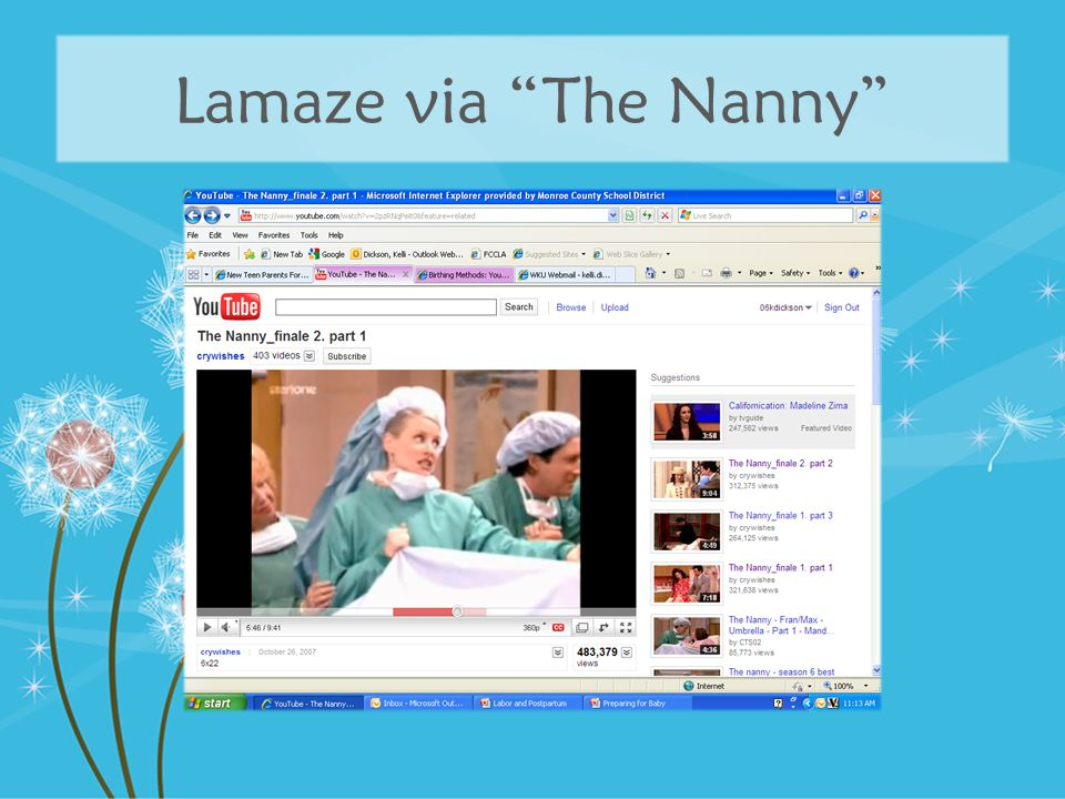 Lamaze via The Nanny
