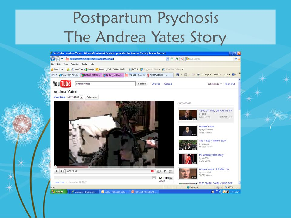 Postpartum Psychosis The Andrea Yates Story