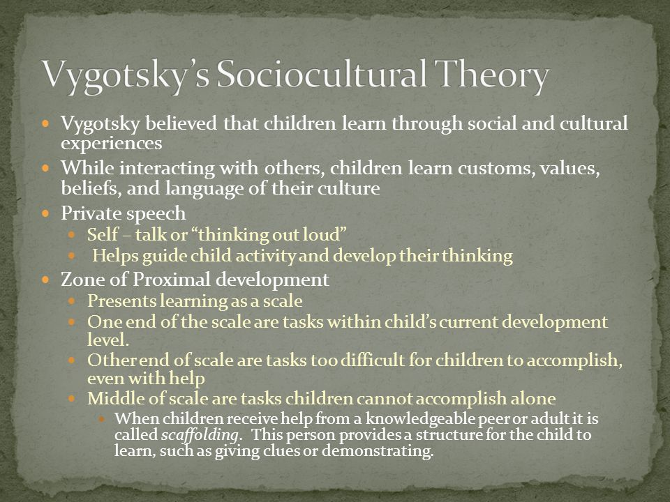 Vygotsky's Sociocultural Theory