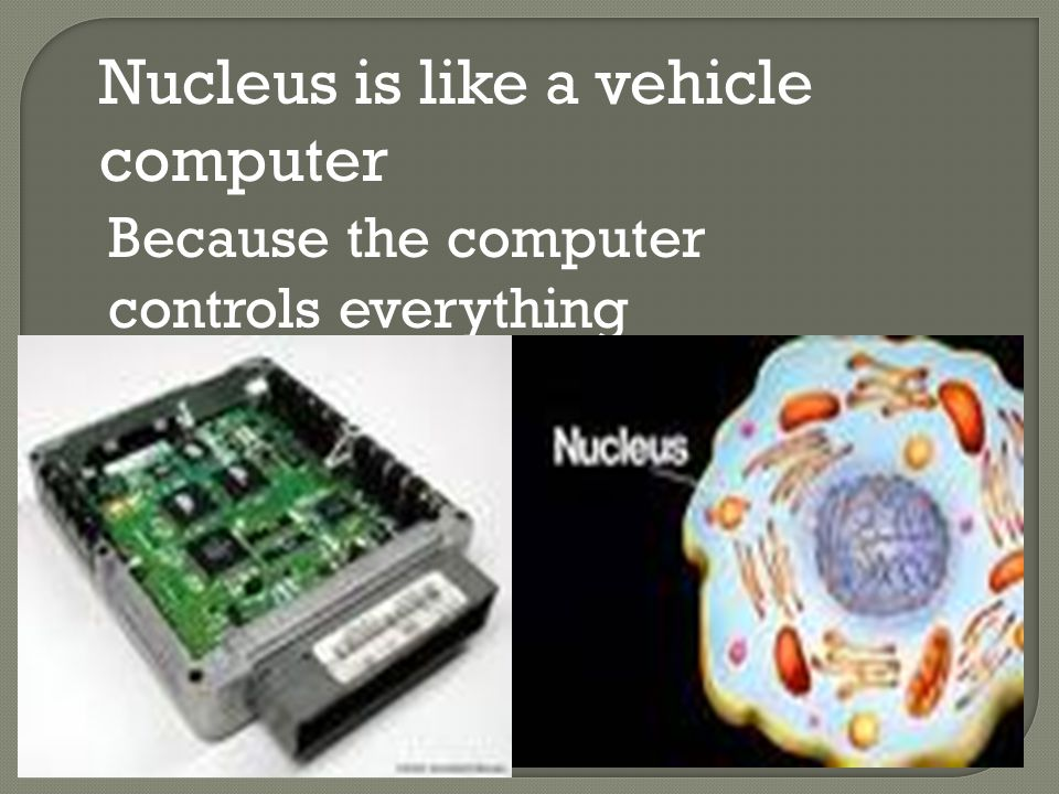 Nucleus is like a vehicle computer