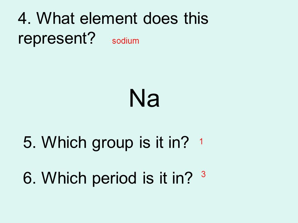 4. What element does this represent