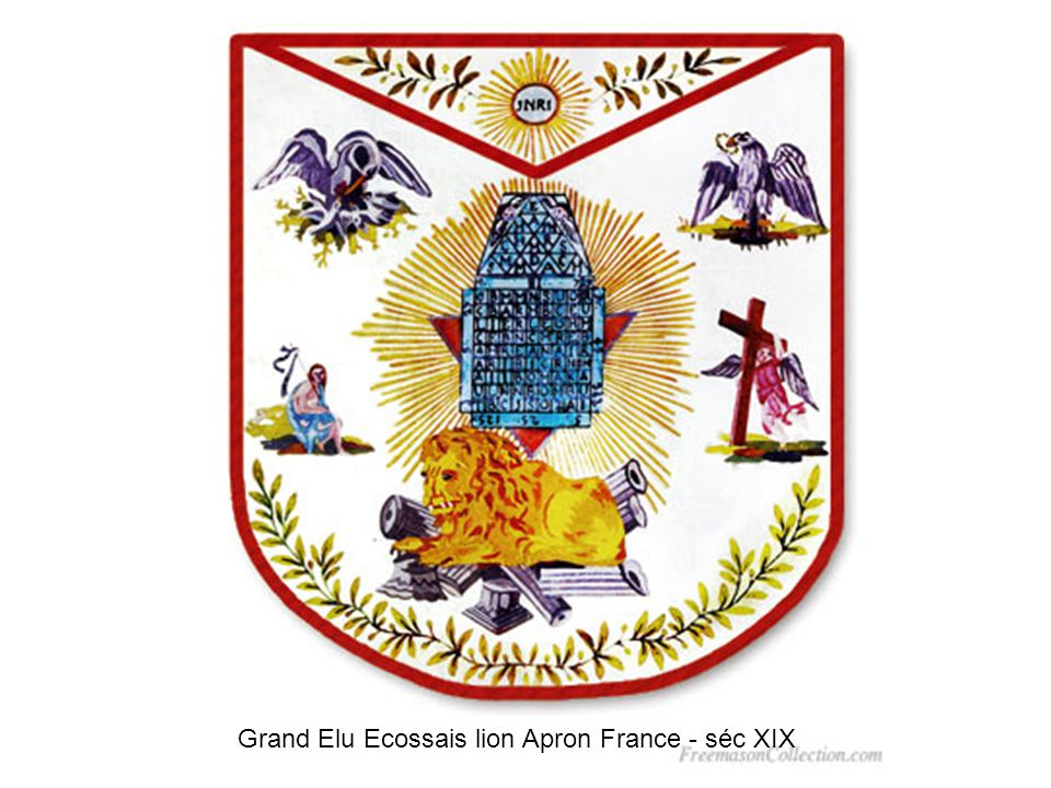Grand Elu Ecossais lion Apron France - séc XIX