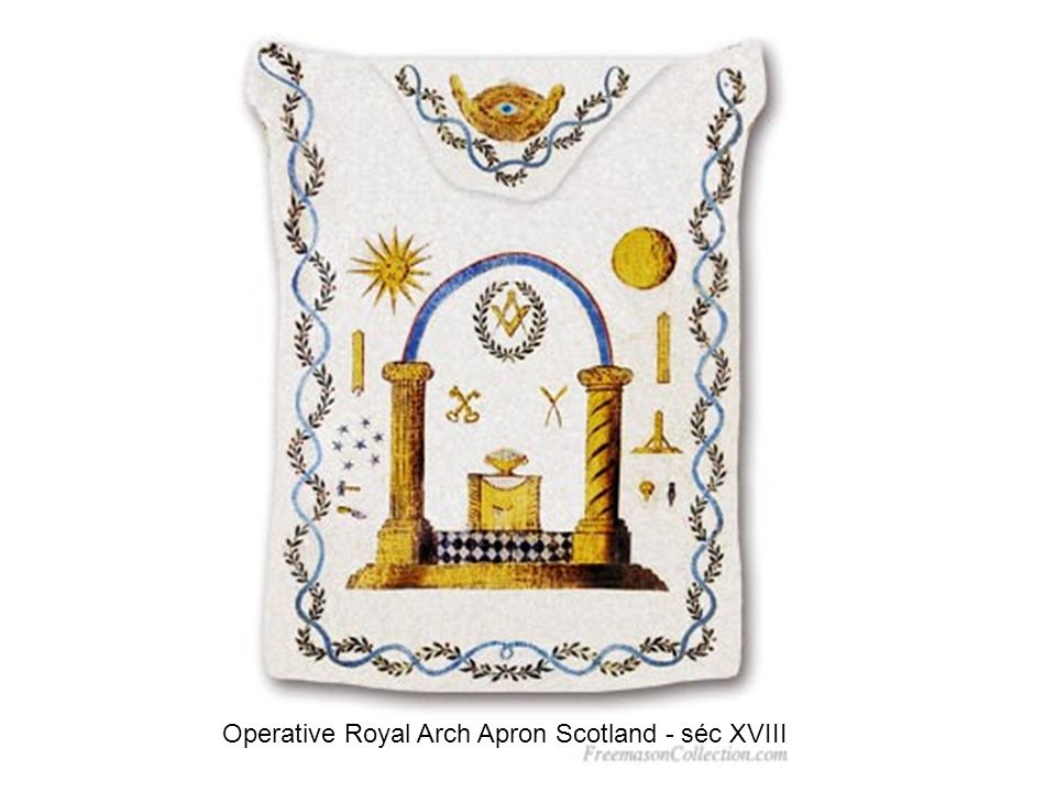 Operative Royal Arch Apron Scotland - séc XVIII