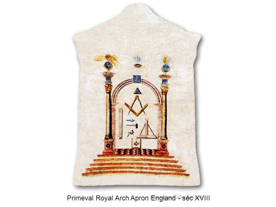 Primeval Royal Arch Apron England - séc XVIII