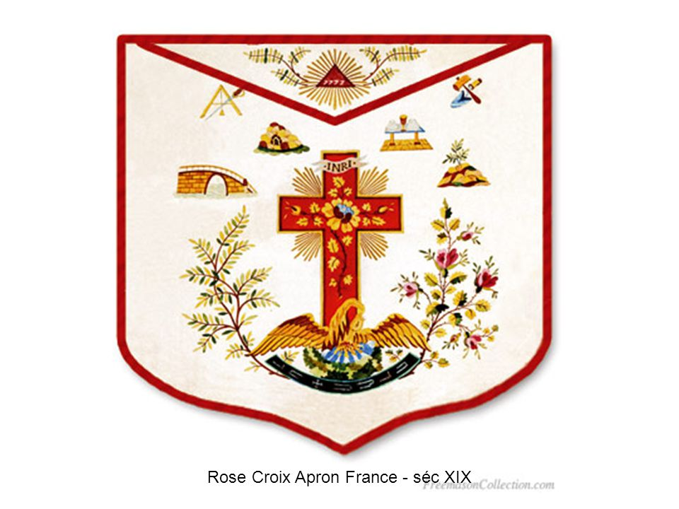Rose Croix Apron France - séc XIX