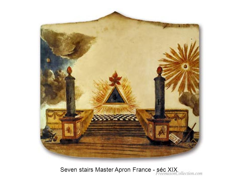 Seven stairs Master Apron France - séc XIX