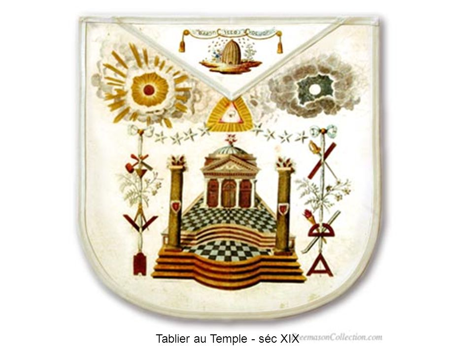 Tablier au Temple - séc XIX