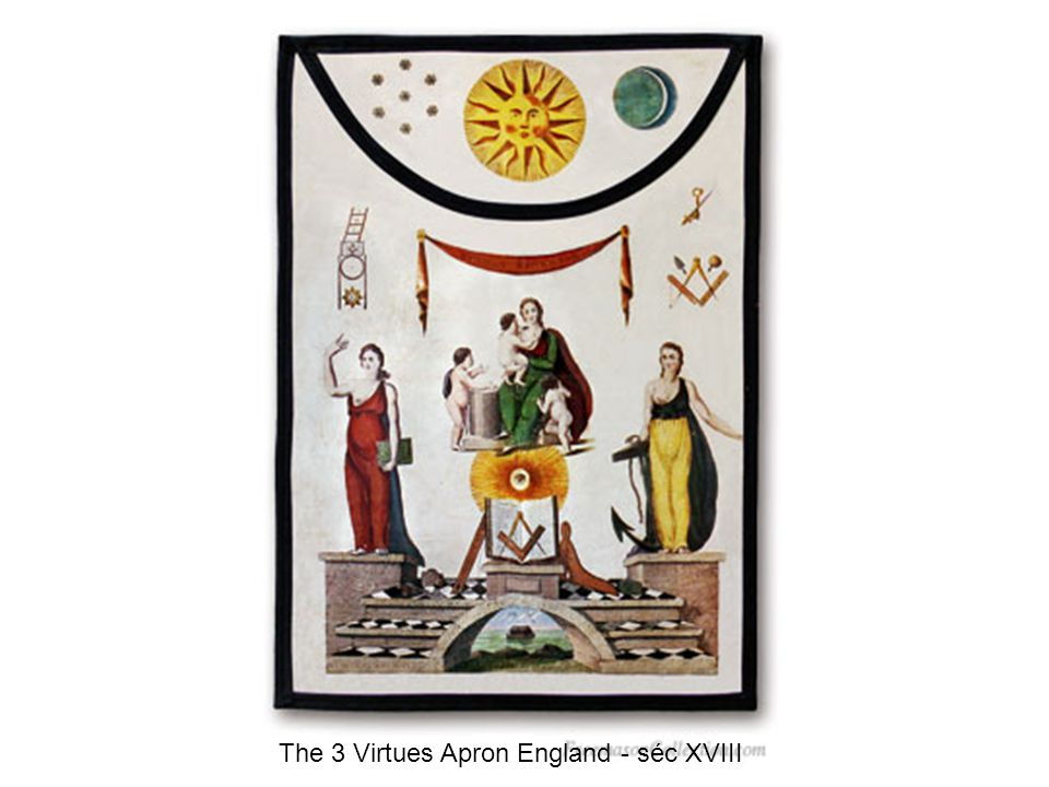 The 3 Virtues Apron England - séc XVIII