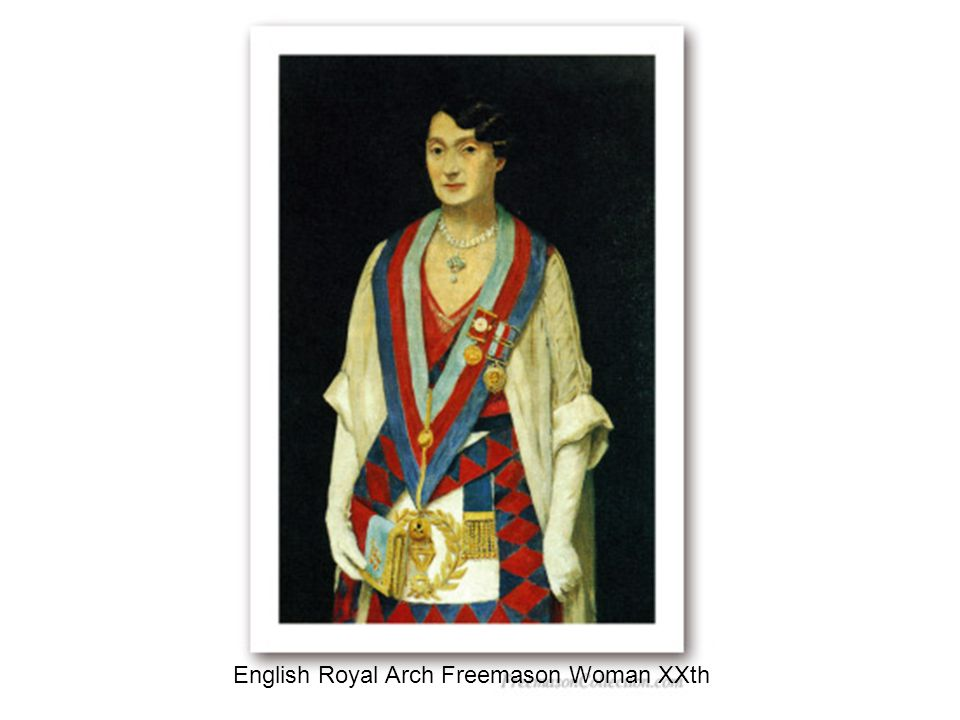 English Royal Arch Freemason Woman XXth