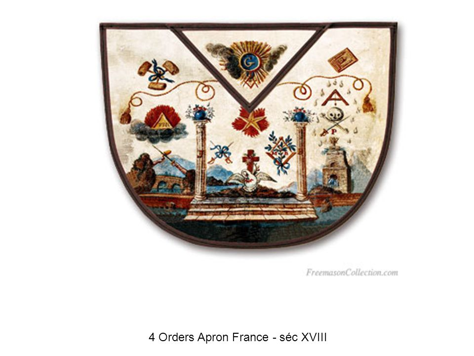 4 Orders Apron France - séc XVIII