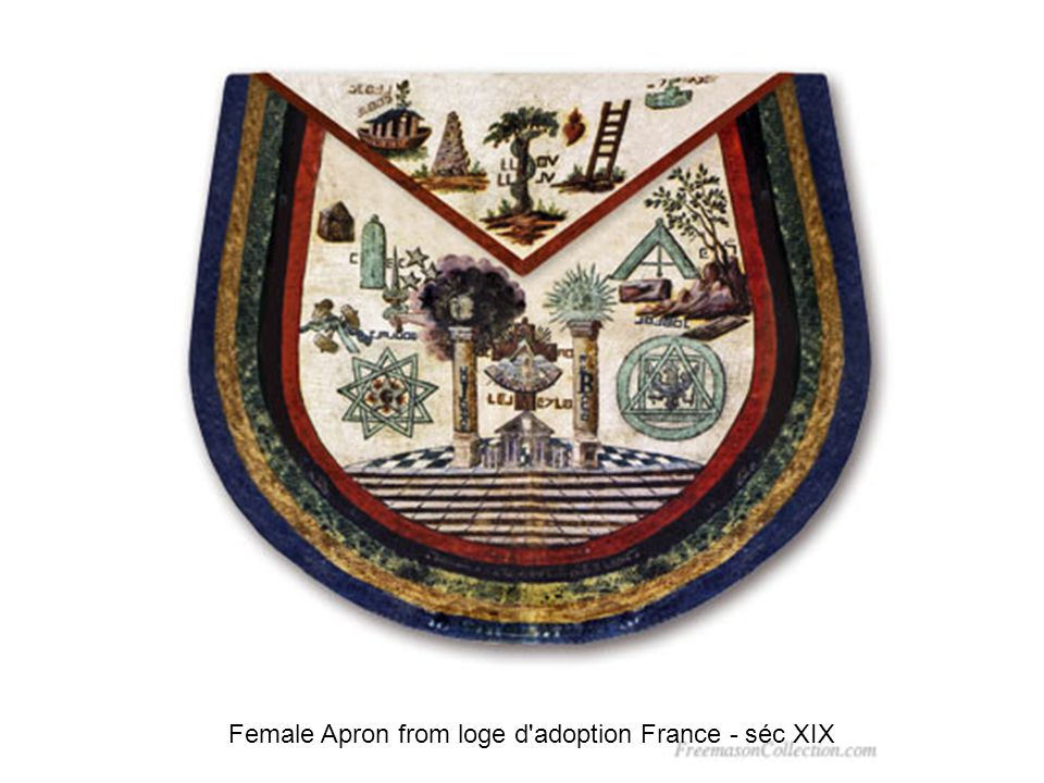 Female Apron from loge d adoption France - séc XIX