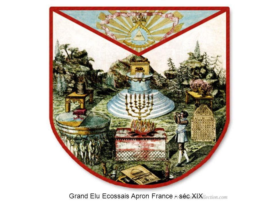 Grand Elu Ecossais Apron France - séc XIX