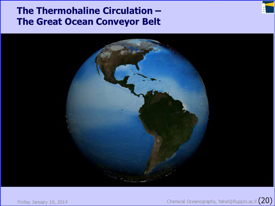 The Thermohaline Circulation – The Great Ocean Conveyor Belt