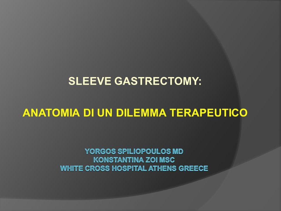 SLEEVE GASTRECTOMY: ANATOMIA DI UN DILEMMA TERAPEUTICO