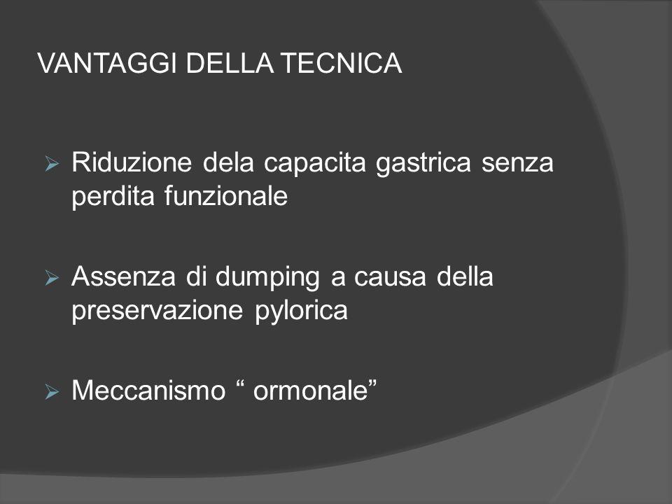 VANTAGGI DELLA TECNICA