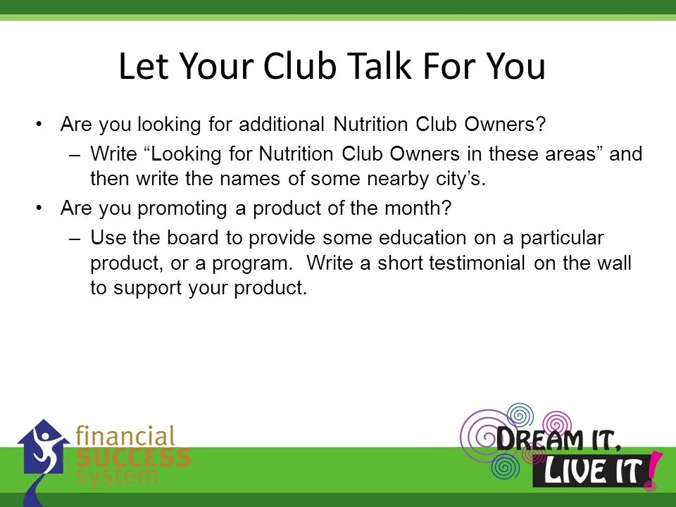 Let Your Club Talk For You