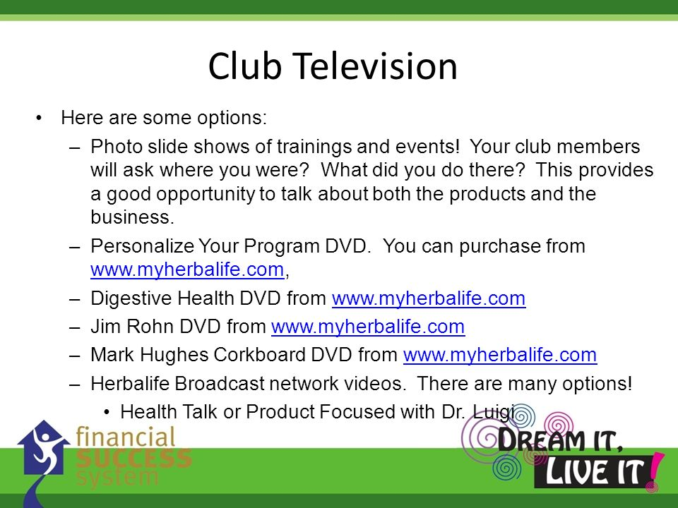 Club Television Here are some options: